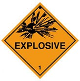 ADR Explosive Sign