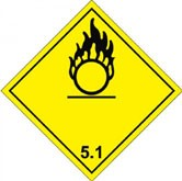 CLASS 5.1- Oxidising Agents Sign