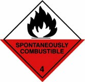 CLASS 4.1 – Flammable solids Sign